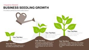 Business Seedling Growth PowerPoint Template and Keynote