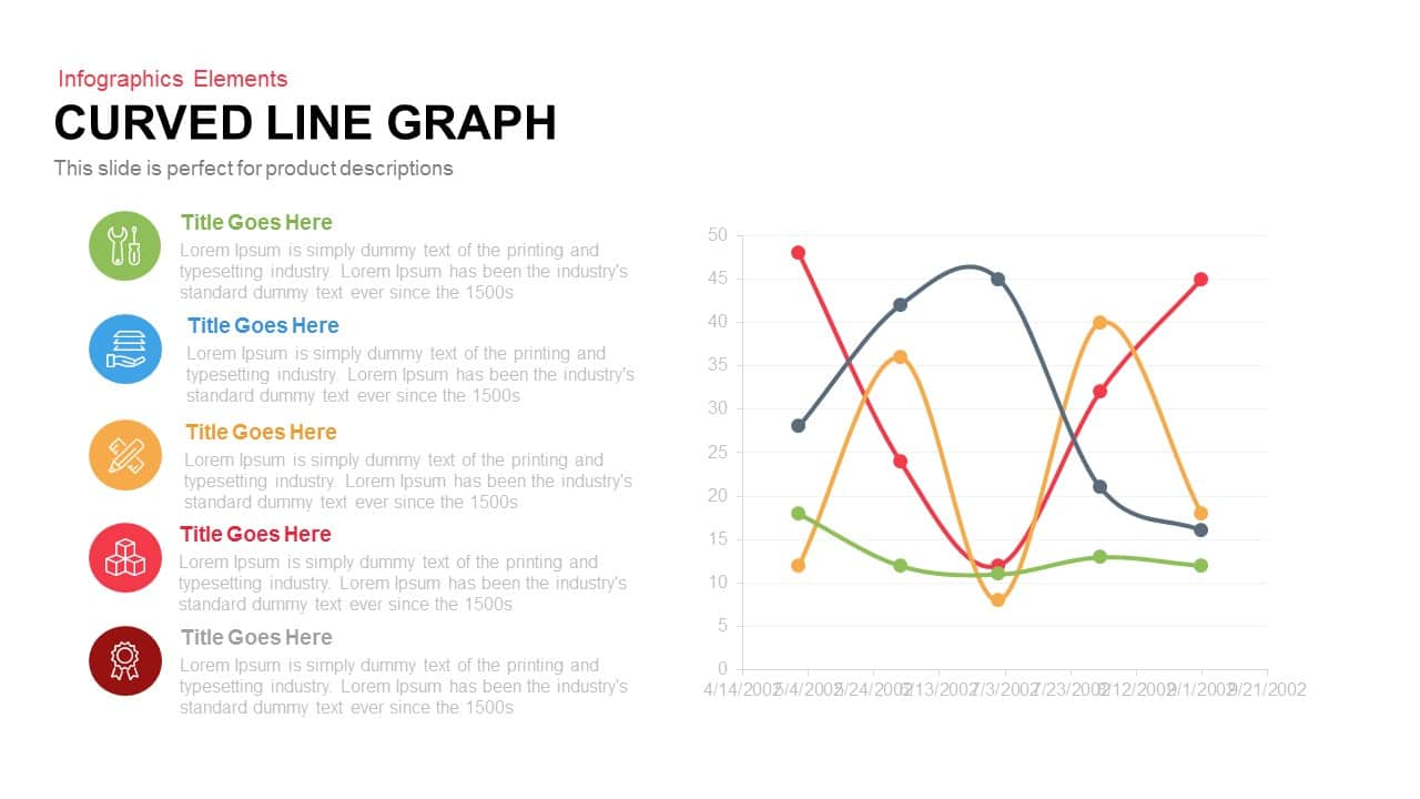 Curved Line Graph PowerPoint Template and Keynote Slide