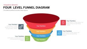 4 Level Funnel Diagram Template for PowerPoint and Keynote Slide