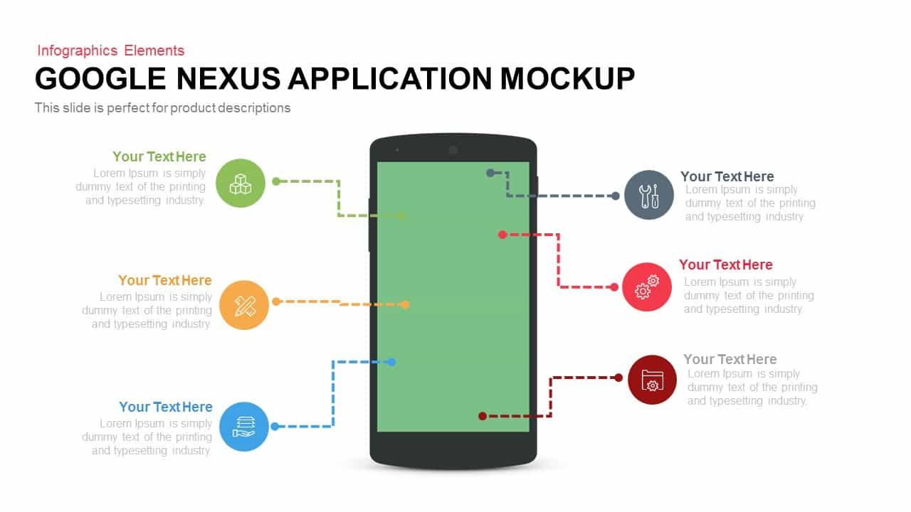 Google Nexus Application Mockup for PowerPoint