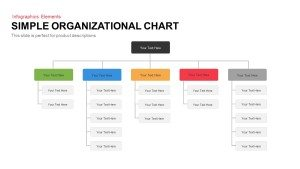 Simple Organizational Chart PowerPoint Template and Keynote