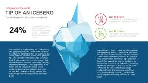 Tip of An Iceberg PowerPoint Template and Keynote Slide