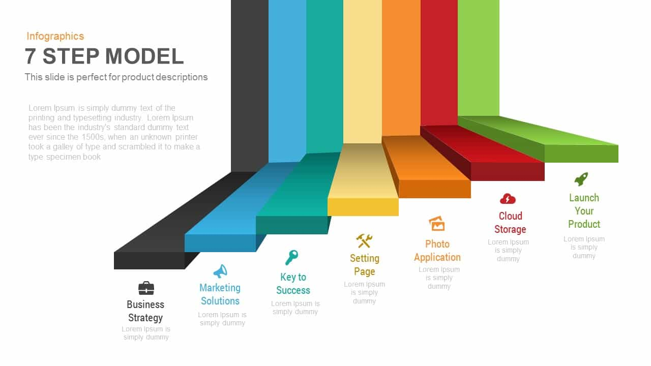 7 Steps Model PowerPoint Template and Keynote Slide