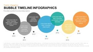 Bubble Timeline Infographics PowerPoint Template and Keynote
