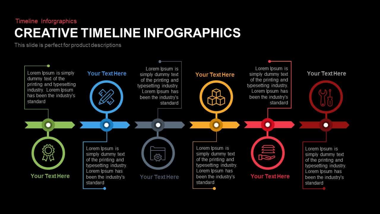 Creative Infographics Timeline Powerpoint Template Keynote Slide