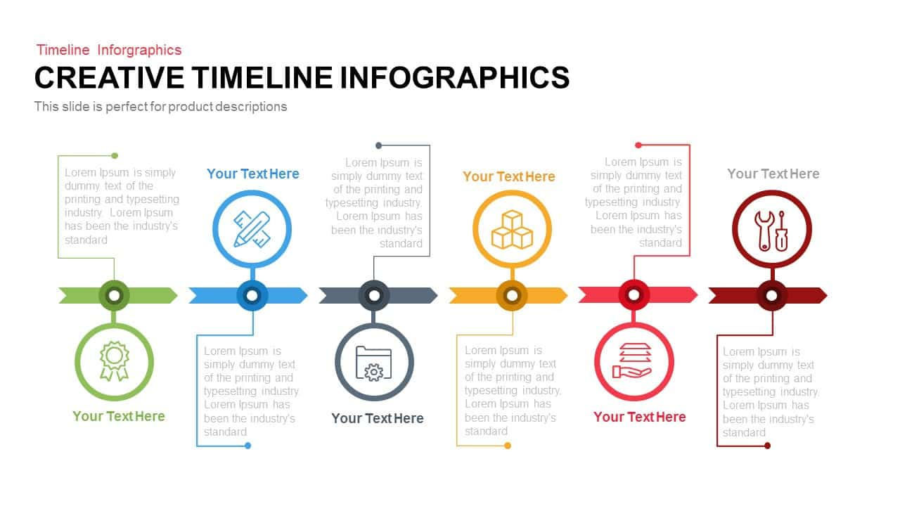 Creative Infographics Timeline PowerPoint Template and Keynote Slide