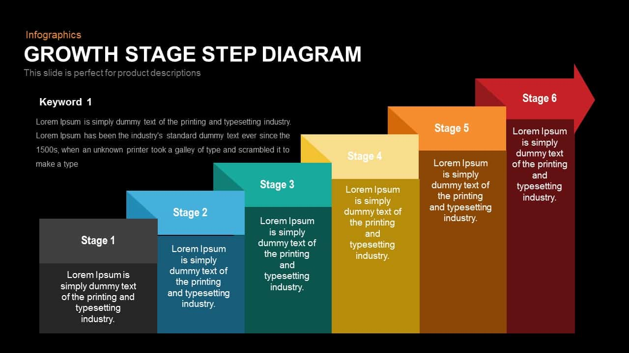 Growth Stage Step Diagram Template for PowerPoint and Keynote
