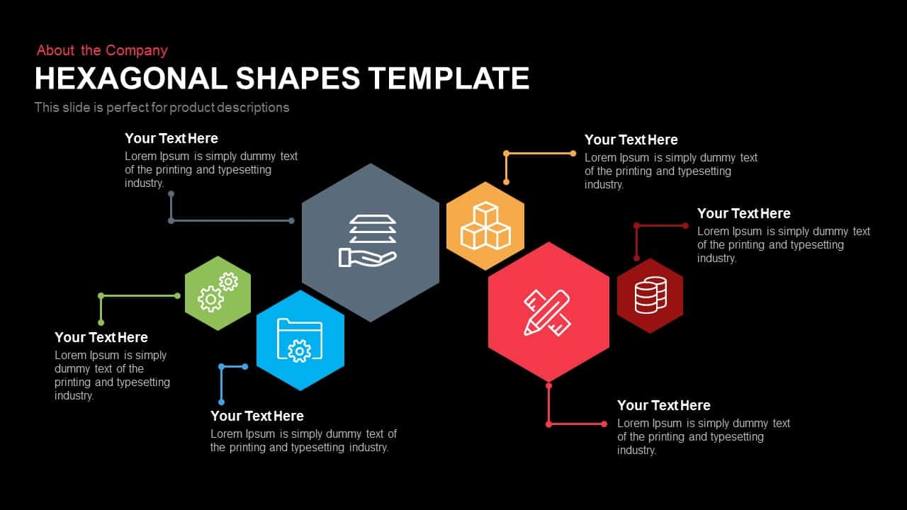 hexagon shape template for powerpoint and keynote