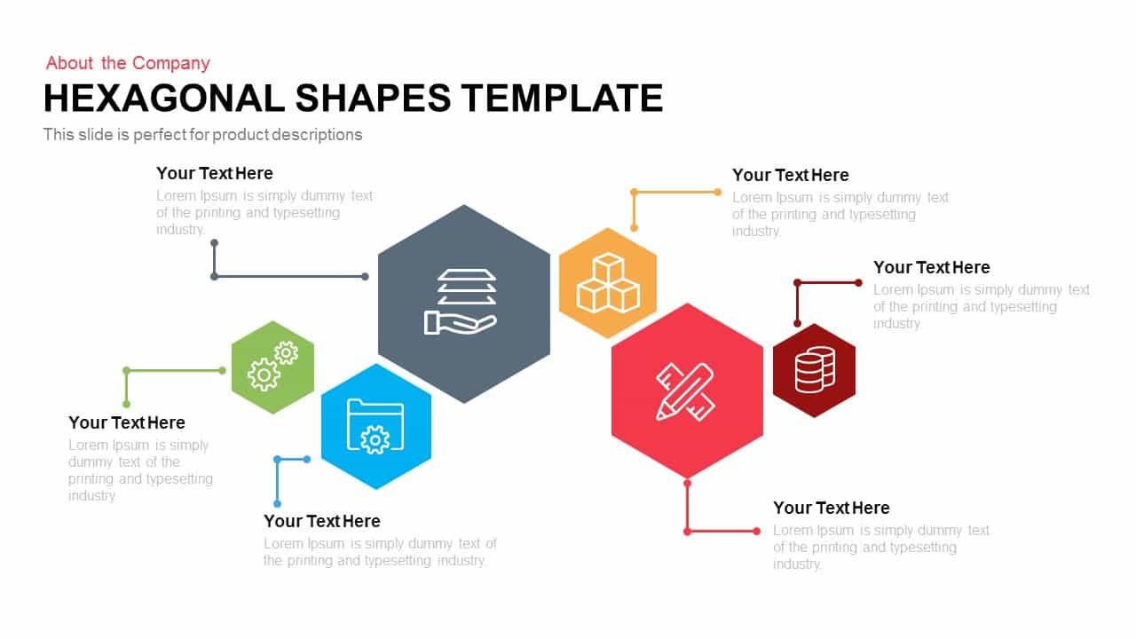 Hexagonal Shapes Template Powerpoint Keynote