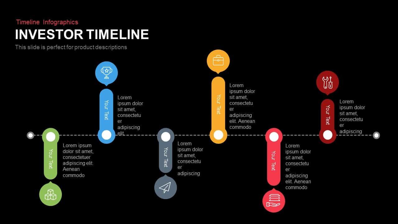 Investor Timeline Powerpoint Keynote template