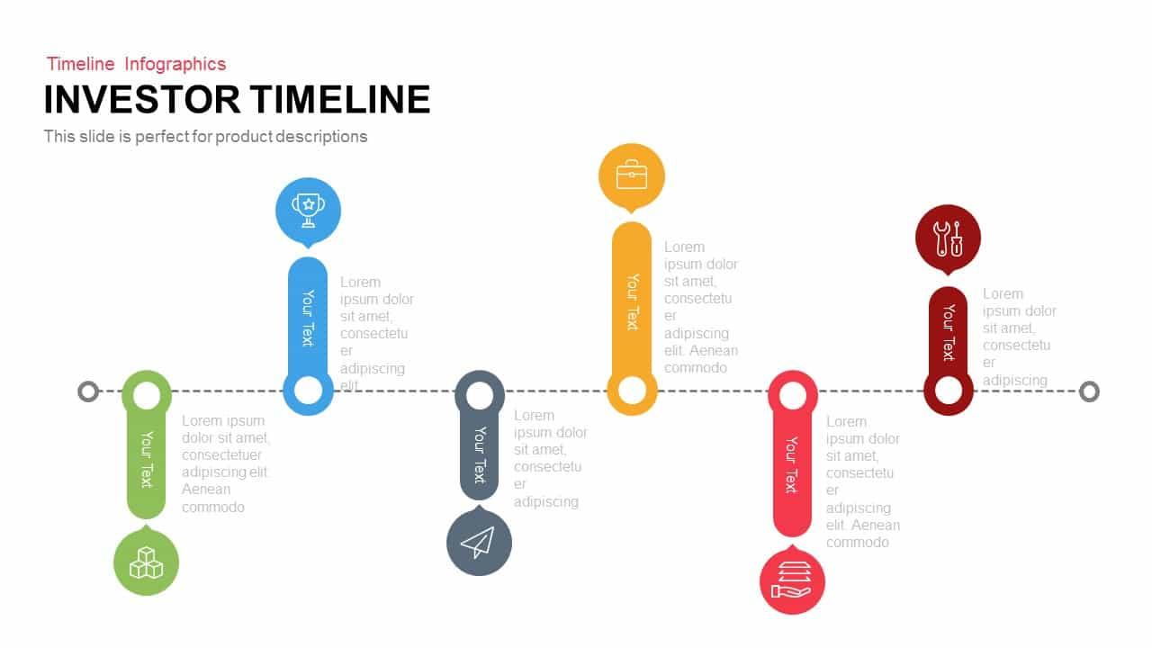Investor Timeline PowerPoint Template and Keynote Slide