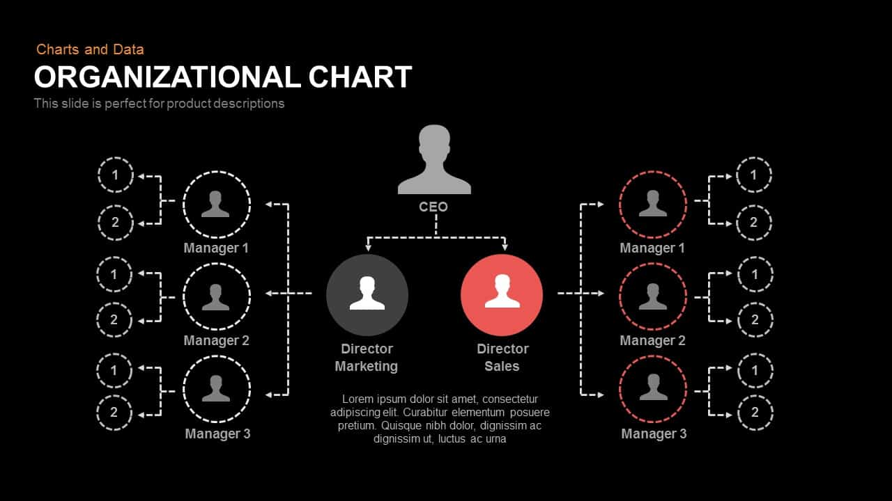 Organizational Chart Powerpoint and Keynote template