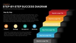 Step By Step Success Diagram Template for PowerPoint and Keynote