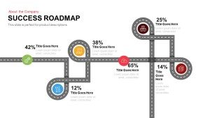 Success Roadmap PowerPoint Template and Keynote Slide