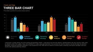 3 Bar Chart PowerPoint Template and Keynote Slide