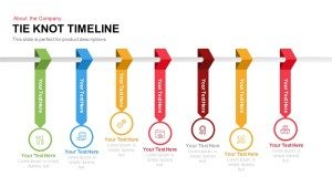 Tie Knot Timeline PowerPoint Template and Keynote Slide