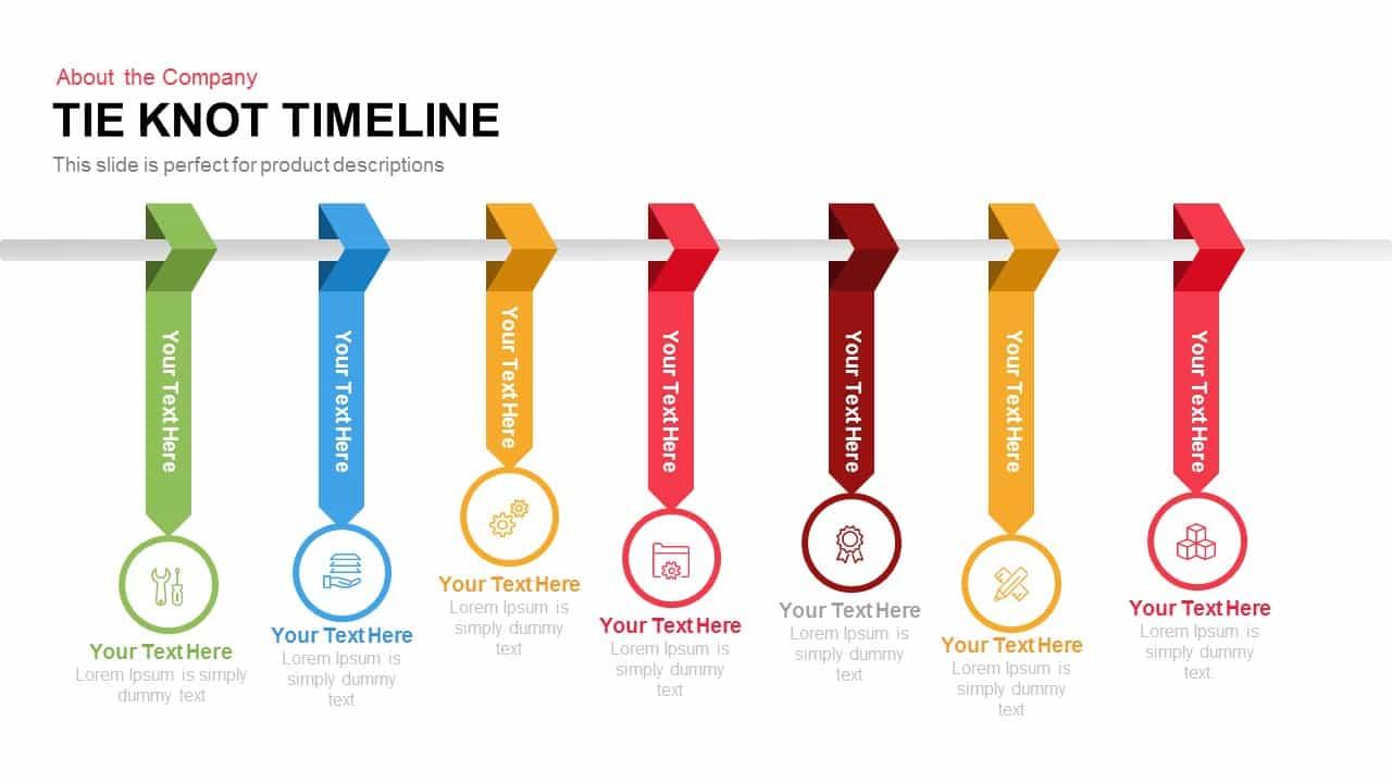 Tie Knot Timeline Powerpoint Template And Keynote Slide Slidebazaar