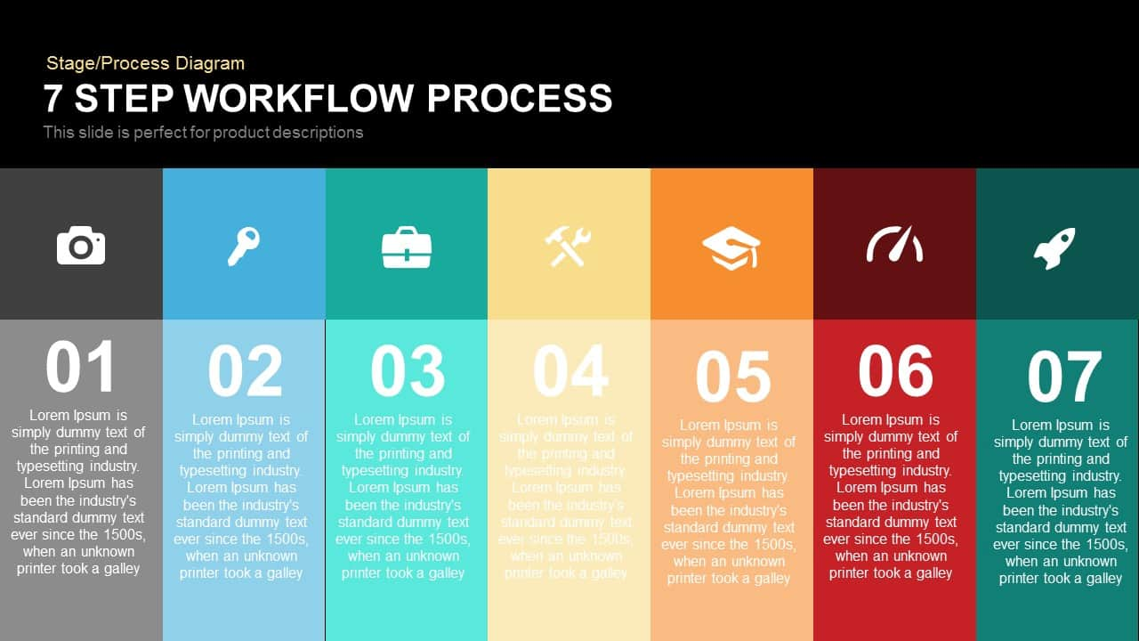 7 Step Process Workflow PowerPoint Template and Keynote