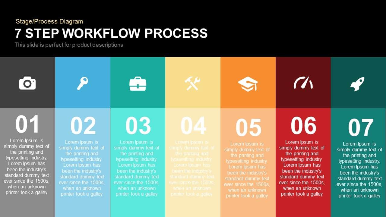 7 Step Process Workflow Powerpoint Template And Keynote Slidebazaar