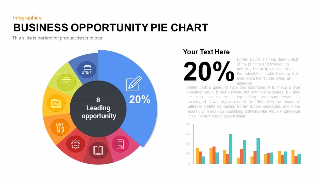 Business Opportunity Pie-Chart PowerPoint Template & Keynote