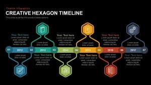 Creative Hexagon Timeline PowerPoint Template and Keynote