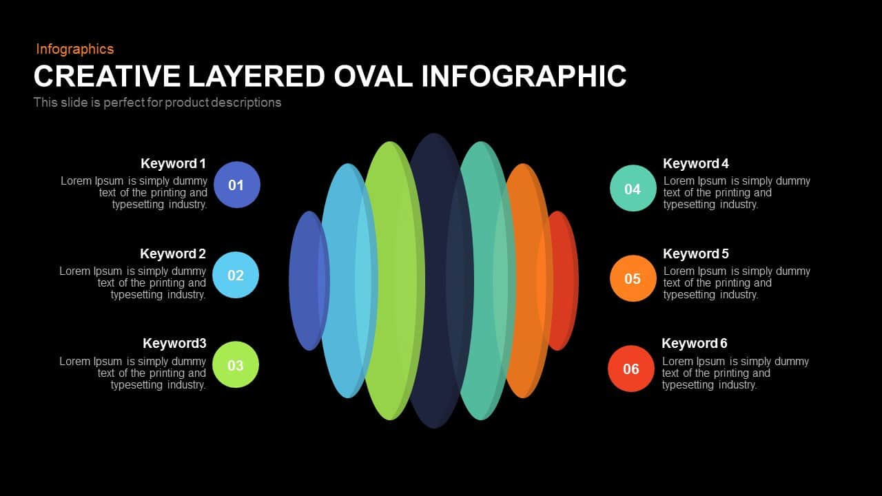 Creative Layered Oval Infographic