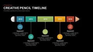 Creative Pencil Timeline PowerPoint Template and Keynote Slide
