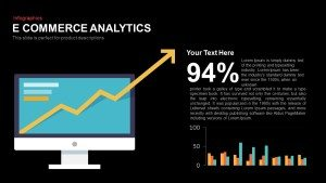 E Commerce Analytics PowerPoint Template and Keynote Slide