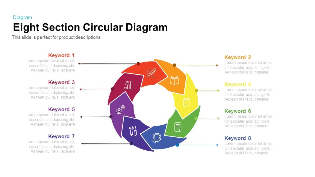 Section Circular Diagram PowerPoint Template and Keynote Slide