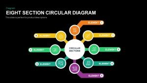 Eight Section Circular Diagram PowerPoint Template and Keynote Slide