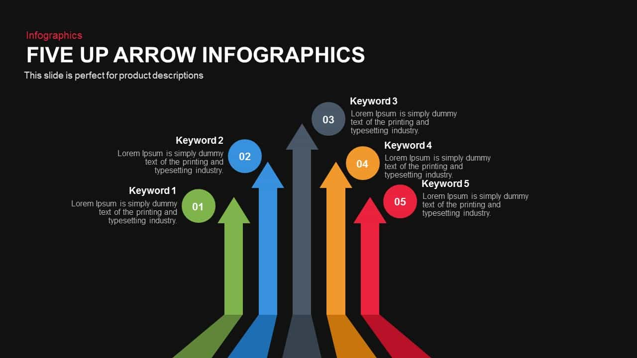 Five Up Arrow Infographics