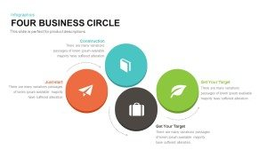 4 Business Circle Template for PowerPoint and Keynote
