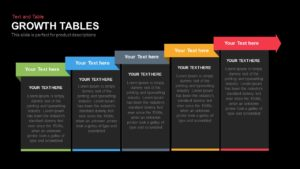 Growth Tables PowerPoint Presentation Template and Keynote Slide