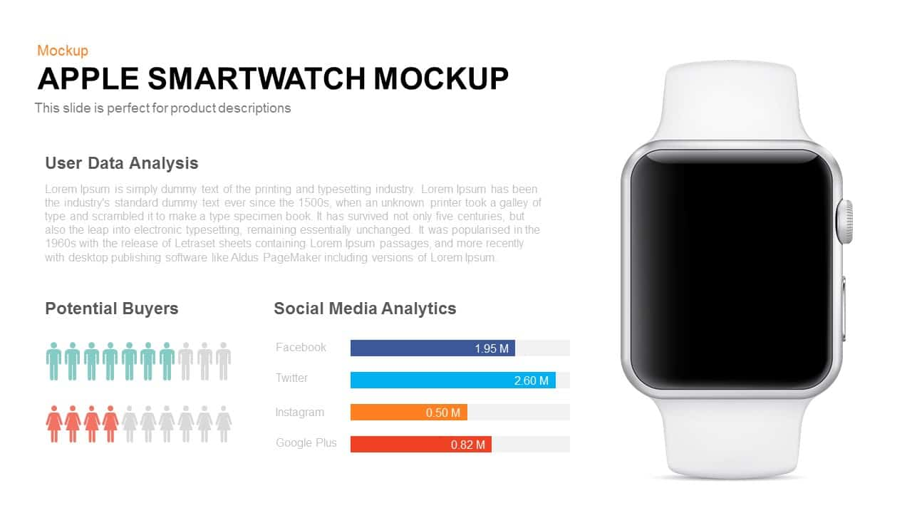Apple smartwatch mockup template