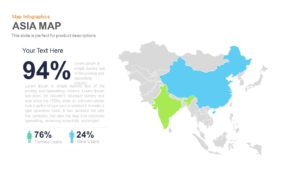 Asia Map PowerPoint Template and Keynote Slide