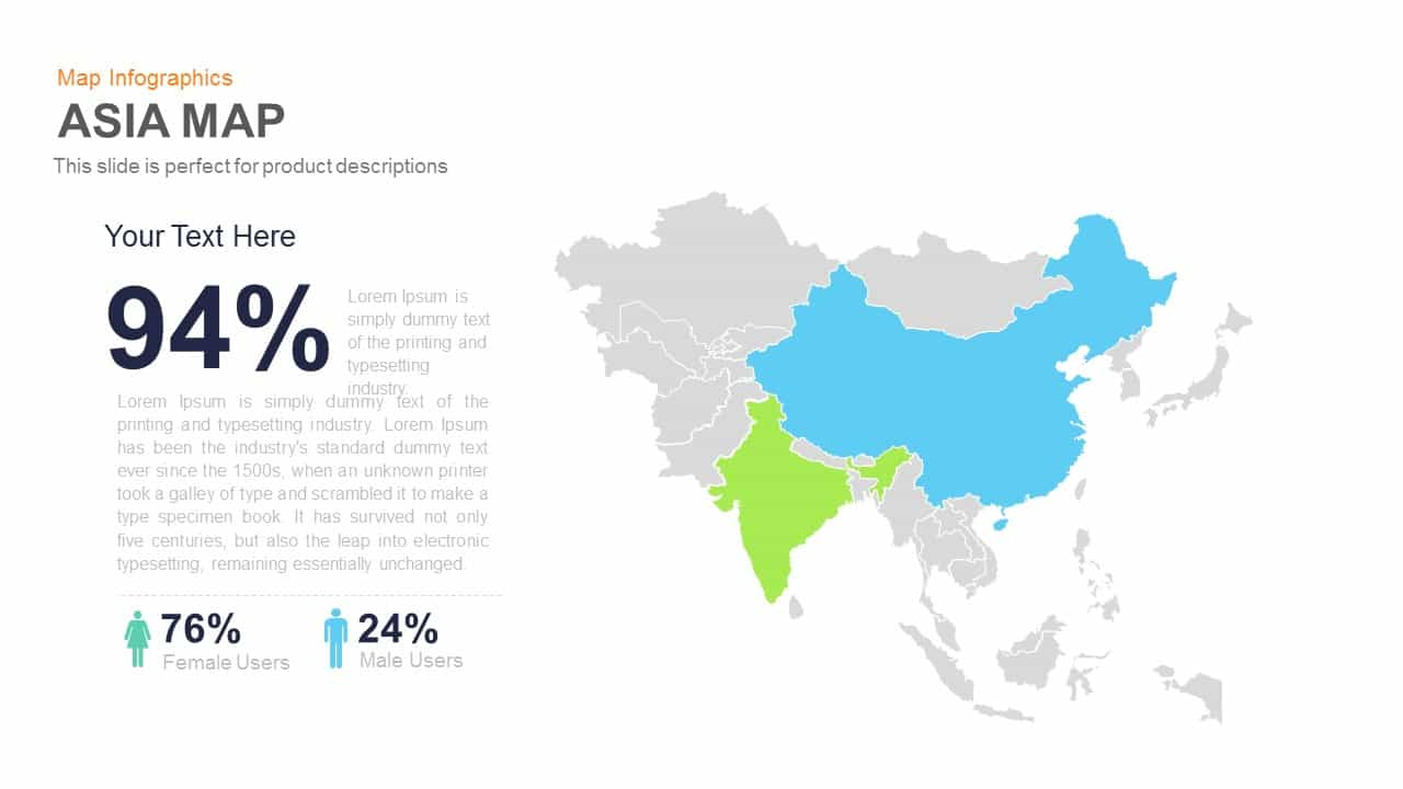 Map Of Asia Template.Asia Map Powerpoint Template And Keynote Slide Slidebazaar