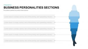 Business Personalities Sections PowerPoint Template and Keynote Slide