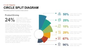 Circle Split Diagram PowerPoint Template and Keynote Slide