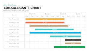 Editable Gantt Chart PowerPoint Template and Keynote Slide