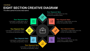 Eight Section Creative Diagram Template for PowerPoint and Keynote
