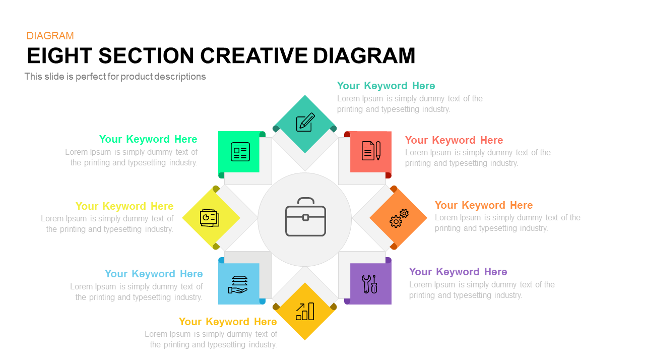 Eight Section Creative Diagram