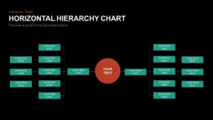 Horizontal Hierarchy Chart Template for PowerPoint and Keynote