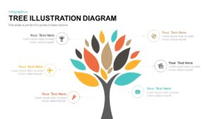 Tree Illustration Diagram Powerpoint Template and Keynote Slide