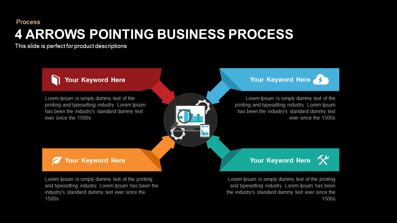 4 Arrows Pointing Business Process