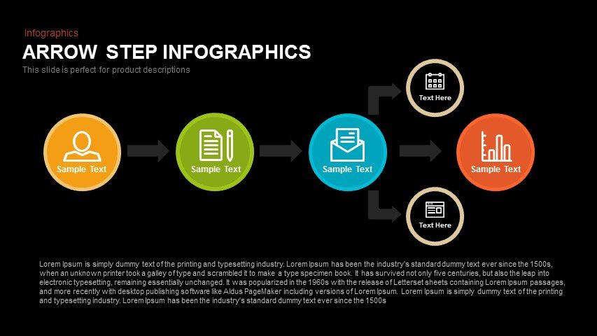 Step Infographics Arrow PowerPoint Template and Keynote