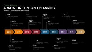 Arrow Timeline and Planning Powerpoint Template and Keynote Slide