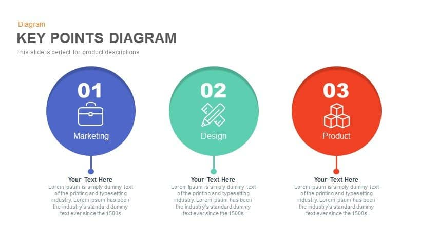 key points PowerPoint presentation diagram template