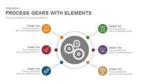Gears Process PowerPoint Template and Keynote with Elements