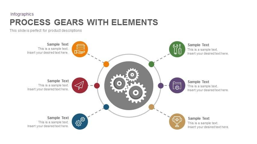 gear process PowerPoint template with elements