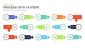 15 Steps Process Flow PowerPoint Template and Keynote Slide